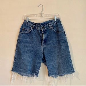 VINTAGE ORIGINAL LEE CUTOFF BERMUDA THRIFT SHORTS